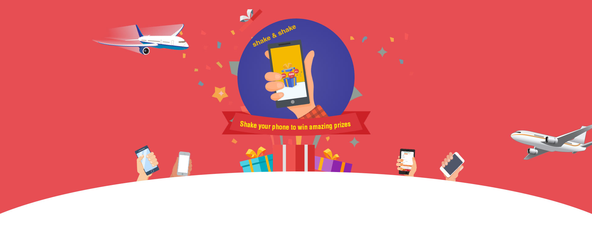 Shake Your Phone and Win Amazing Prizes on HappyEasyGo App